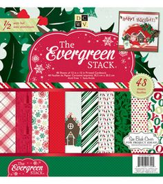 Product for Project #6 - Evergreen Christmas Stack 2012: paper: scrapbooking: Shop | Joann.com $8.99/sale