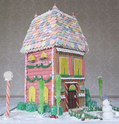 Gingerbread City House Template