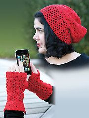 La Villa Lace Slouch Hat & Gloves - I like the pattern but I am not willing to pay 10 bucks for it...Sorry, Annie...