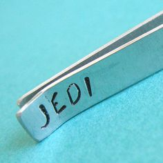 Star Wars Tie Bar Jedi  Stamped in aluminum by SpiffingJewelry, $16.00
