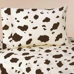 Sweet Jojo Designs Cowgirl Western Cow Print Queen Sheet Set