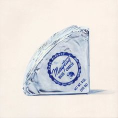 Maytag Blue Cheese: Handmade by Maytag Dairy Farms, Newton, Iowa since 1941, and ranks among the world's great cheeses...Illustration by Joel Penkman #Illustration #Blue_Cheese