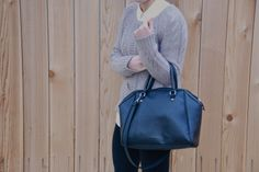 Current Habits: Favorite chunky sweater   #GAP   H&M Bag   #OOTD