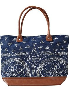 Old Navy Printed Denim Tote. I have and love this simple tote. Love the print.