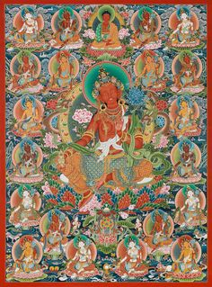 Tibetan buddhist thangka of green tara tibet visual dharma art 21 tra fandeluxe Images