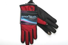 Red Isotoner smarTouch Gloves for Women