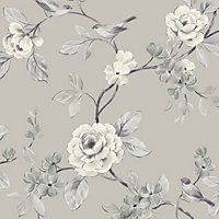 Lara Wallpaper - Taupe