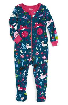Hatley 'Mystical Forest' Fitted One-Piece Footie Pajamas (Baby Girls) available…