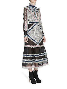 Erdem Silk Blend Dress