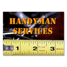 Handyman Services2 Large Business Cards (Pack Of 100). This is a fully customizable business card and available on several paper types for your needs. You can upload your own image or use the image as is. Just click this template to get started!