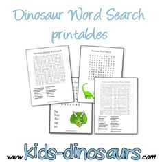 Dinosaur Word Search Printables - 4 great dino word searches from easy to hard. Includes separate carnivore and herbivore printables. Preschool Science Activities, Science Party, Science Gifts, Party Activities, Dinosaur Activities, Kids Night Out, Dinosaur Crafts, Dinosaur Printables, Elementary Science Classroom