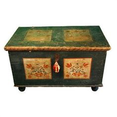 Early Pennsylvania Dutch Painted Blanket Chest #1262961