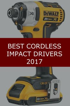 Learn about the best cordless impact drivers available in 2017. We review them side-by-side. Brands: Black+Decker, DeWalt and Makita.