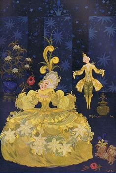 Wanda Zeigner-Ebel, illustrations, from Andersens Marchen, a collection of fairy tales.