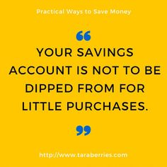 Tara Berries: PRACTICAL WAYS TO SAVE MONEY | TARA BERRIES