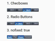 multibutton is a jQuery plugin which converts the normal html unordered list into a series of toggle buttons wrapped in an inline button group. #jquery