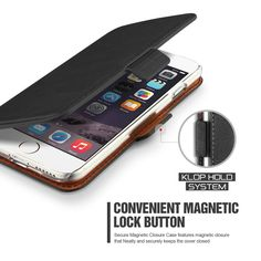 """iPhone 6 Plus Case, Verus [Kickstand Feature] iPhone 6 Plus 5.5"""" Wallet Case [Dandy Klop][Black] Classic Vintage Leather Wallet Cover - Verizon, AT&T, Sprint, T-Mobile, International, and Unlocked - Leather Case for Apple iPhone 6 Plus 5.5 Inch Late 2014 Model:Amazon:Cell Phones & Accessories"""