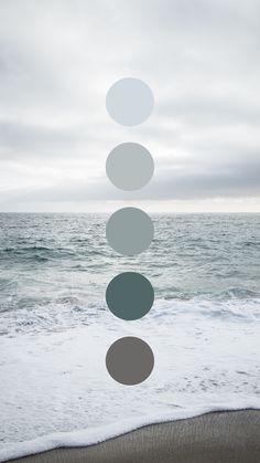 Coastal Overcast Color Palette by Amari Creative. Room Colors, House Colors, Colours, Colour Pallette, Colour Schemes, Beach Color Schemes, Decoration Inspiration, Color Inspiration, Paint Colors For Home