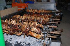 Arni Souvla (Lamb on the Spit) Original Cypriot Recipe (Kondosouvli) Goat Recipes, Duck Recipes, Easter Recipes, Greek Recipes, Cooking Recipes, Lamb Dishes, Beef Dishes, Best Greek Food, Cyprus Food