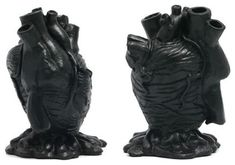 Black Anatomical Heart MakeUp Brush Holder. Look it's an exact replica of your heart Elise.