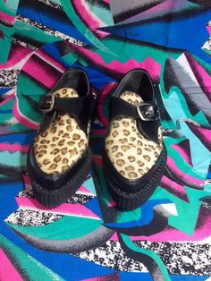 Vintage 80s CREEPERS TUK PUNK 6 womens size by thunderhorsevintage
