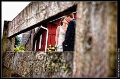 Fence and Bride & Groom