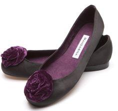 Black Satin Rosette Ballet Ballerina Shoes Pumps