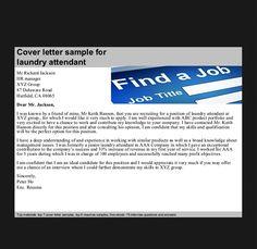 Linen Attendant Cover Letter