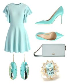 """""""Untitled #44"""" by ccrc on Polyvore featuring Chicwish, Sergio Rossi and Kate Spade"""
