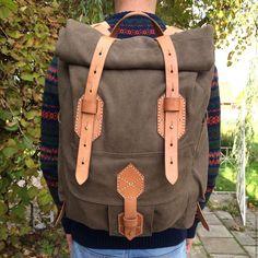 """Купить Рюкзак """"Слон"""". Дорожный, городской - хаки, однотонный, рюкзак, рюкзак женский, рюкзак мужской"""