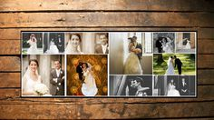 BUY 1 GET 1 FREE Wedding Facebook timeline cover template photo collage - Photoshop Template Instant Download