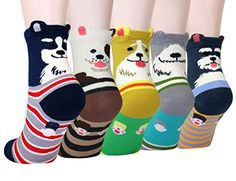 LITTONE Womens Cozy Cotton Animal Ankle Socks BS061 *** Read more reviews of the product by visiting the link on the image.