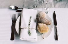 Rosemary sprig to spruce up any tablescape.  Photo by Collin Hughes.
