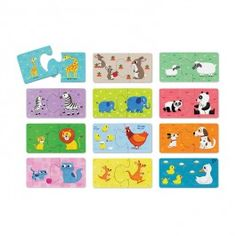 http://www.educationaltoysplanet.com/baby-animals-12-puzzles-set-in-a-gift-trunk.html Baby Animals 12 Puzzles Set in a Gift Trunk. Make 12 animal families happy by finding a perfect parent for each animal baby from this Crocodile Creek Baby Animals first puzzle set.