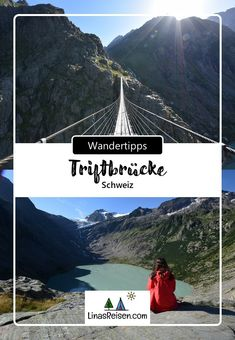Die Triftbrücke ist eine 170 m lange Hängebrücke im Gadmertal. Sie ist 100 m hoch und führt über den gleichnamigen Wildfluss Triftwasser, der aus dem Triftgletscher entspringt Mountains, Nature, Movie Posters, Movies, Travel, Communities Unit, River, Explore, Hiking