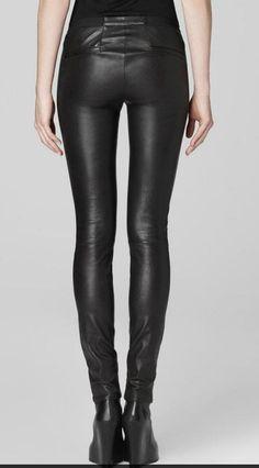 Black leather pant