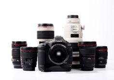 Rent a wide variety of Canon products including lenses, cameras, and accessories.