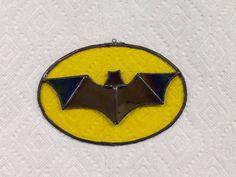 Gothic Gotham Bat Logo by HummingbirdStGlass on Etsy