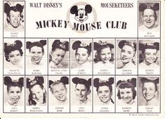 A rare and wonderful 1950's Mickey Mouse Club Mouseketeers fan card, personally autographed by Walt Disney on the reverse. Description from philsears.com. I searched for this on bing.com/images