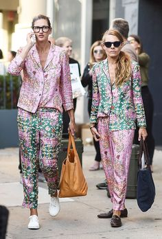 I can only hope to spend as much of October as I can in luxe pajama seperates like these. NYFW: The Best Street-Style Moments from the Spring 2017Shows
