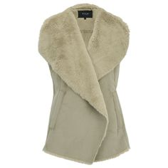 VILA Women's Sheepa Waistcoat - Soft Camel ($73) ❤ liked on Polyvore featuring outerwear, vests, brown, brown vest, open front vest, waistcoat vest, brown waistcoat and vila