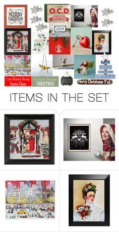 """""""Christmas Art"""" by thevintagecinderella ❤ liked on Polyvore featuring art"""