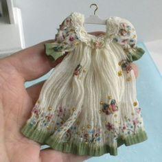 Exquisite Sparkling Party Dress by Mzia Dsamia Elegant Dollhouse Miniature