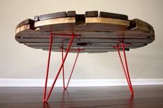 Repurposed Furniture Ideas | OK, so I have seen SEVERAL upcycled suitcase tables , but THIS one is ...