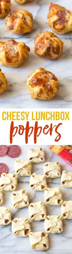 Cheesy Lunchbox Poppers Recipe – This easy 6-ingredient snack is great for party appetizers and quick lunchbox fillers, instead of plane-jane sandwiches.
