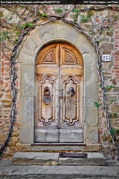 old doors | Royalty Free Image of Old Wooden Door In Tuscany