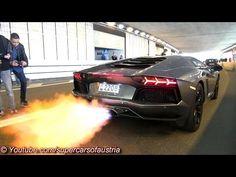 INSANE FLAMES! Lamborghini Aventador LP720-4 Ft. Liberty Walk/Armytrix/Airrex/Forgiato - YouTube