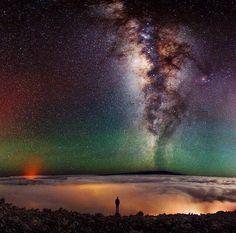 Droga Mleczna oglądana z Hawajów