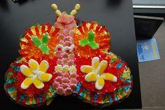 Tarta de chuches - Candy cake - Gâteau de bonbons - Snoeptaart - #butterfly
