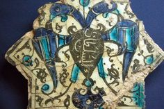 Ceramic tile depicting a two-headed eagle with shield currently at the Konya Karatay Ceramics Museum. Pieces like this were found during the excavation of the Kubad Abad Palace, built for sultan Kayqubad I (1220–1236), ruler of the Seljuk Sultanate of Rum.